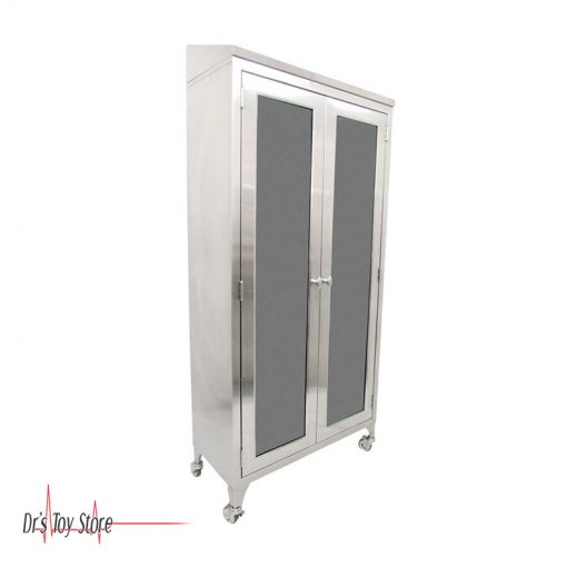 Stainless Steel Medical Cabinet 5 Shelves with Casters