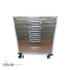 DTS Crash Cart 6 Drawer Rolling Cabinet