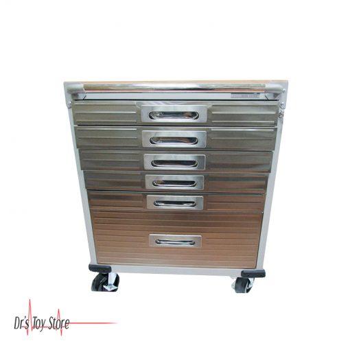DTS Crash Cart 6 Drawer Rolling Cabinet