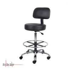 Gas Lift Lab Stool with Back Support